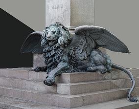 Venice Winged Lion Bronze Sculpture 3D print model