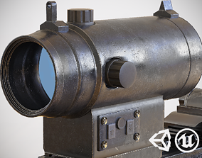 Red Dot - CQB Sight - Scope - Optic - Weapon 3D model 3