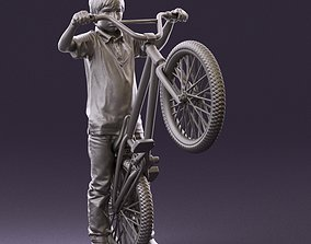 kid on bike 1076 3D Print Ready