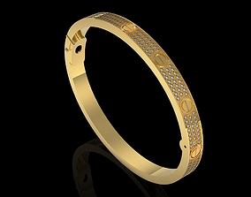 3D print model Cartier Love bracelet pave
