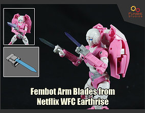 3D print model Fembot Arm Blades from Transformers 2