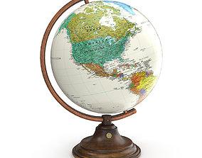 Classic Globe 3D asset