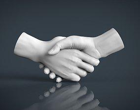 anatomy 3D print model shake hands