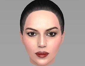 3D Beautiful brunette woman head TYPE 9