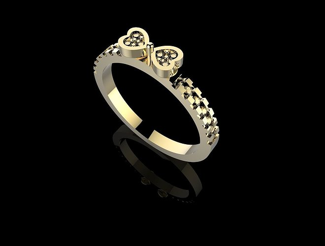 ring-bow-with-stones-3dm-stl-3d-model-st