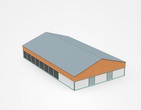 Industrial Building 3D model architecture house