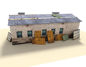 industrial building 3D model low-poly