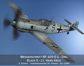 Messerschmitt - BF-109 E - Black 5 - JG26 3D