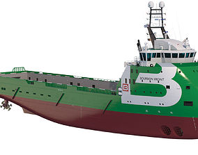 Platform Supply Vessel BOURBON FRONT 3D model