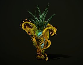Hand painted fantasy plant 1 3D