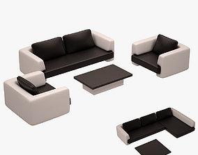 Sofa Set 004 3D asset