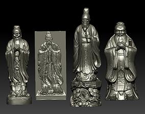 3D printable model Confucius Collection