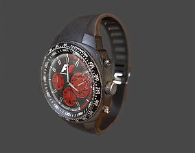3D model Wristwatch - Dirty Old watch PBR Game