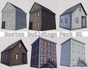 Boston Buildings Pack 01 3D asset