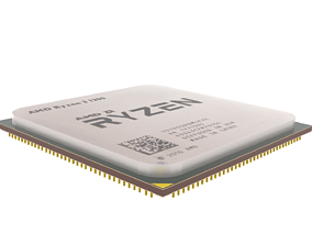 3D model Ryzen CPU