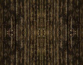 Darken wood texture 3D model low-poly