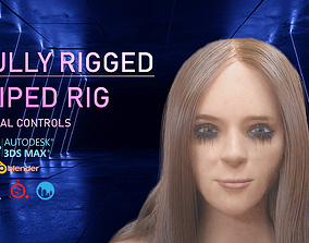 FULLY RIGGED FEMALE CHARACTER 3D asset