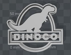DINOCO Logo from Cars 3 cookie cutter 3D printable model
