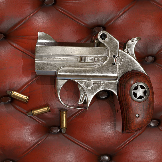 Derringer Pocket Pistol - Game Asset