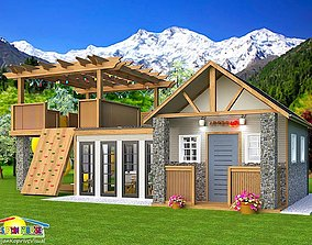 3D model kids play and fun house