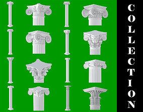 8 Classic Columns Collection 3D