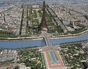 Paris City Eiffel Tower Mars Fields 3D
