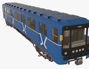 3D Moscow Subway Train