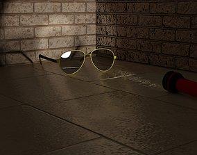 VR / AR ready lowpoly sunglasses model
