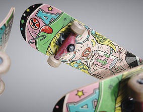 Skateboard 3D model PBR
