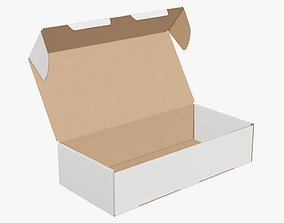 3D Opened shipping bottle box