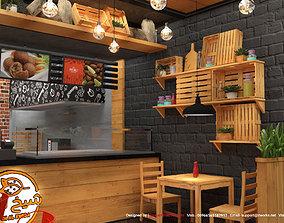 design Fast Food restaurant 3D model