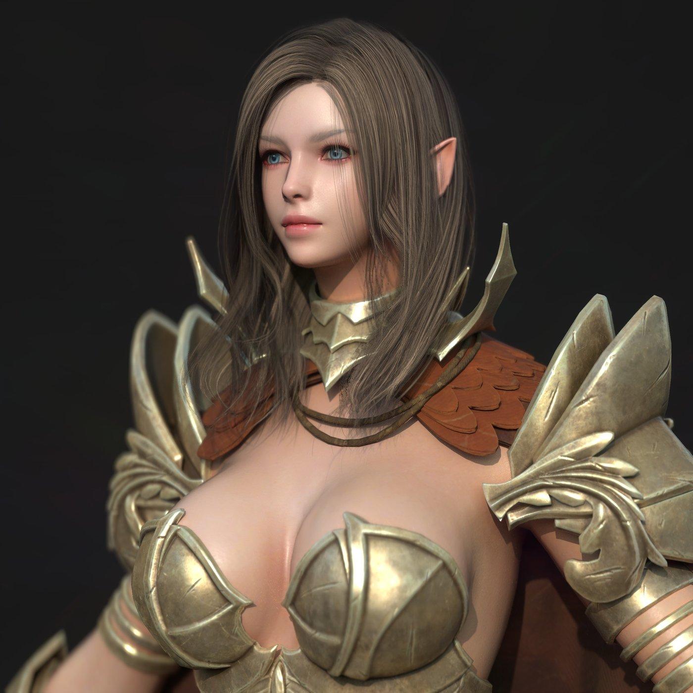 Valkyrie Warrior Girl Rigging Unreal