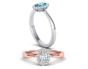 Diana Classic Ring Engagement ring 6x4 Oval stone