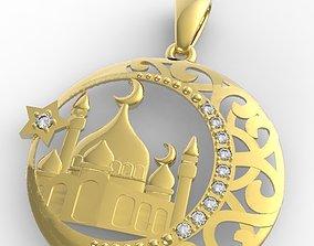 3D printable model mosque pendant