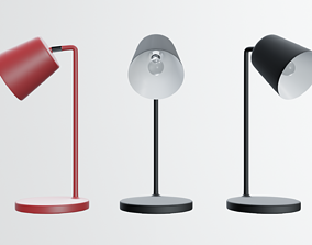 modern desk lamp in black 3D model