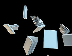 Float white books 3D model