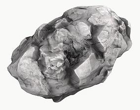 Meteor Asteroid Rock 4K 3D asset