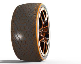 Wheel 3D model part