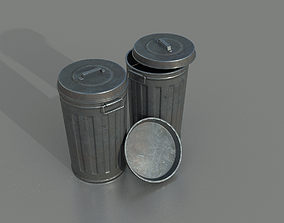 Trashcan 3D model waste