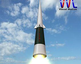 3D model Sprint Missile