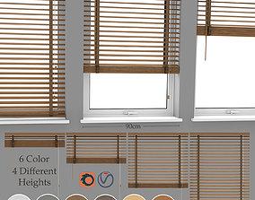 Wood Blinds Venetian and window 3D