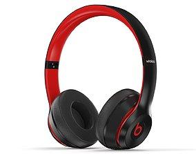 Beats Solo 3 red-black - Element 3D wireless