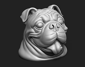 British Bulldog Head 3D print model