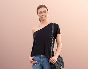 Ramona 10043 - City Girl Walking with bag 3D model