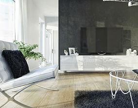 3D model living-room tv Living room