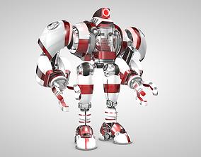 3D model Robot With Cockpit