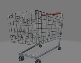 Low Poly Shoping Cart 3D model