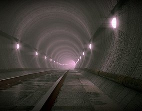 Underground Subway rail 3D