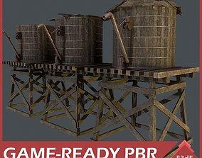 3D asset Western - Wooden Reservoirs