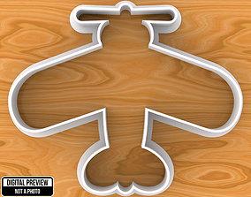3D print model Acrobatic Aircraft Dough Fondant Cookie